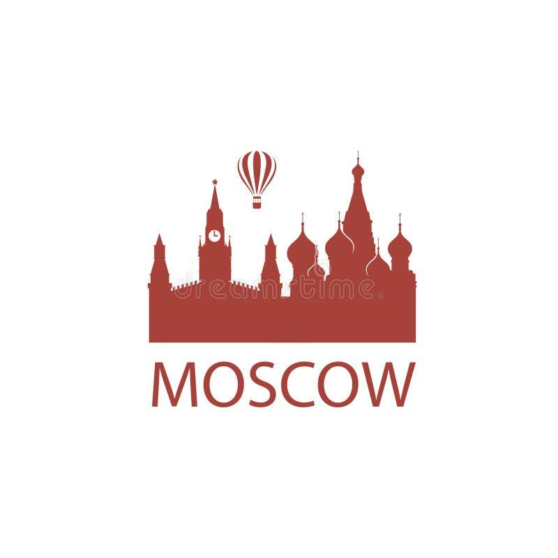 Moskvagränsmärkebild stock illustrationer
