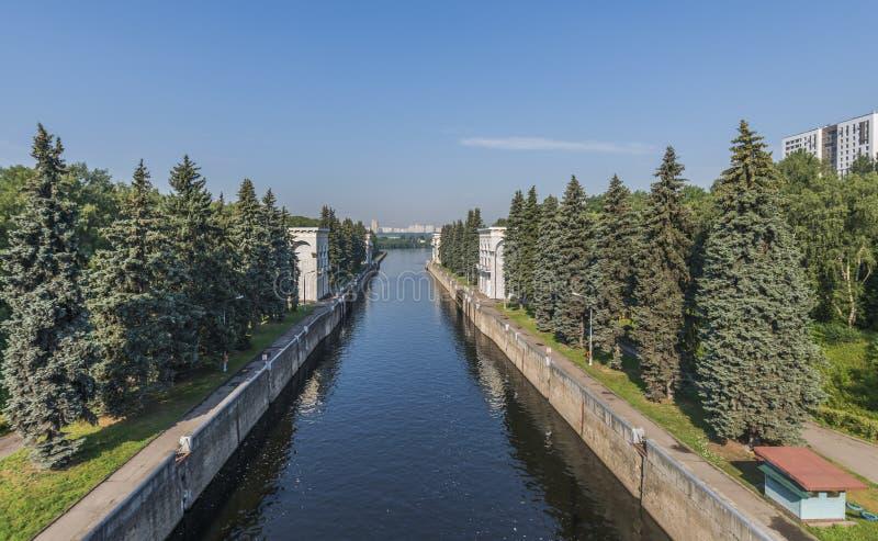 Moskvakanalnyckel i Mnevniki fotografering för bildbyråer