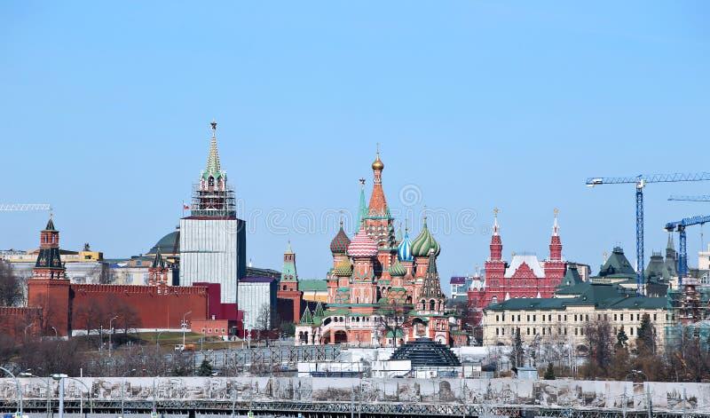 MoskvaKreml och röd fyrkant i Moskva arkivfoto