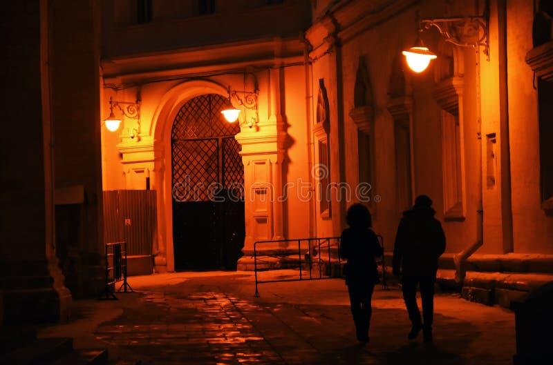 MoskvaKreml på natten, färgfoto royaltyfria bilder