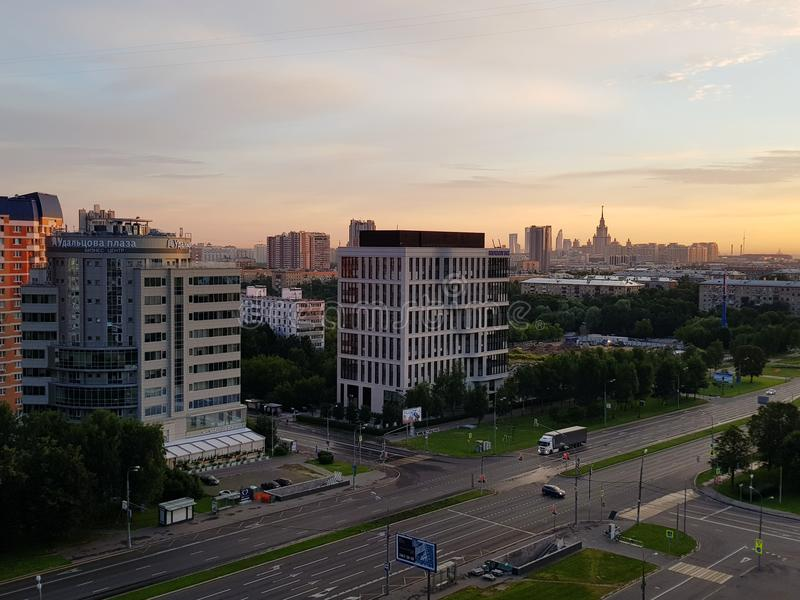 Moskvamorgon royaltyfri fotografi