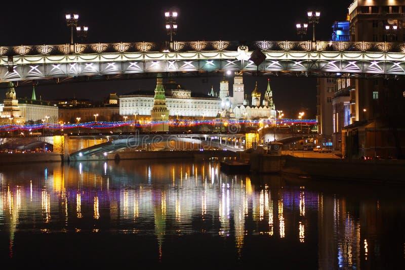 Moskvanattsikt royaltyfria foton