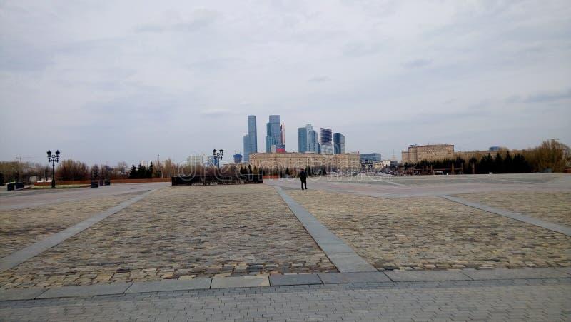 Moskvasity Moscowsity Sommar dagar arkivfoto