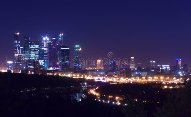 Moskvastad-linje natt arkivbilder