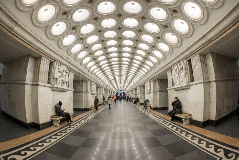 Moskvatunnelbanastation royaltyfri foto