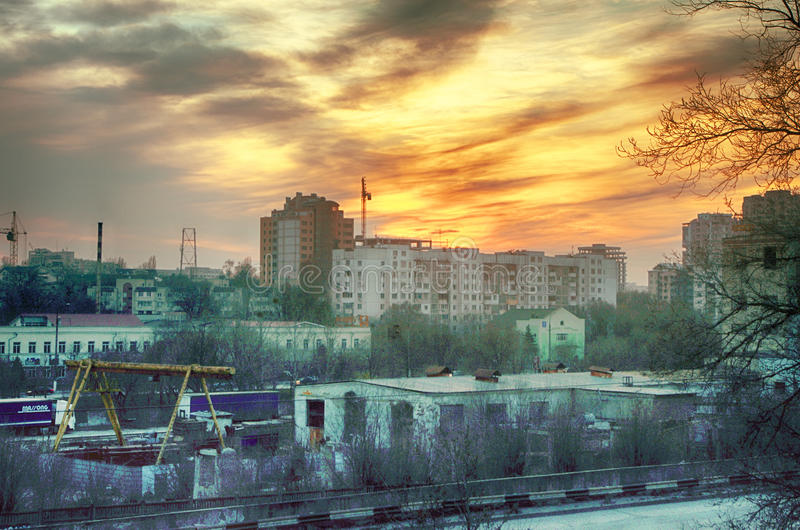 MoskvaVarvarka gata arkivfoto