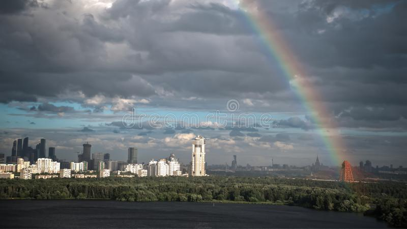 Moskwa centrum biznesu na 4th Lipiec fotografia stock