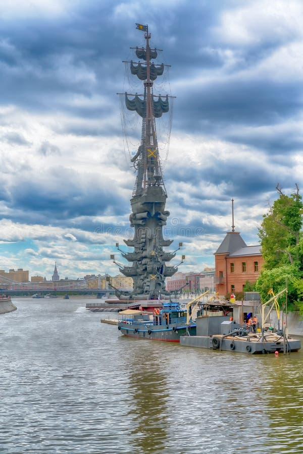 MOSKWA, CZERWIEC - 21, 2018: Pomnikowy ot Peter Wielki, architekt Zurab Tseretely fotografia stock