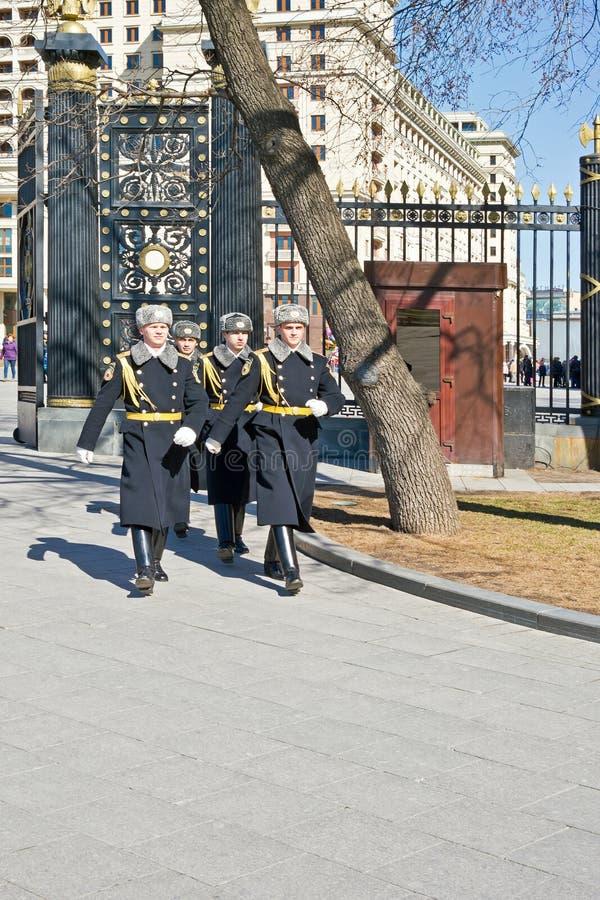 Moskwa. Grobowiec Niewiadomy żołnierz obrazy royalty free