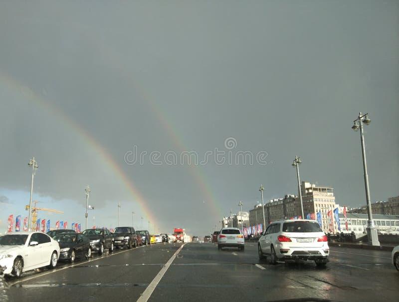 Moskwa kopii tęcza zdjęcie royalty free