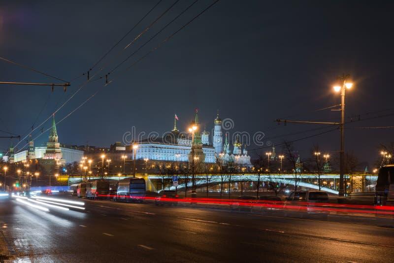 Moskwa Kremlin noc zdjęcie stock