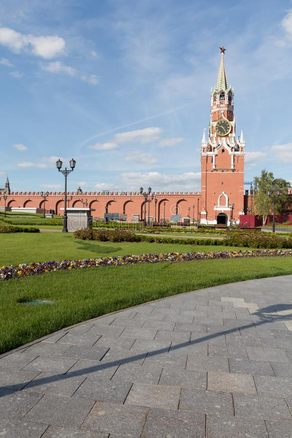 Moskwa Kremlin w lato czasie fotografia royalty free