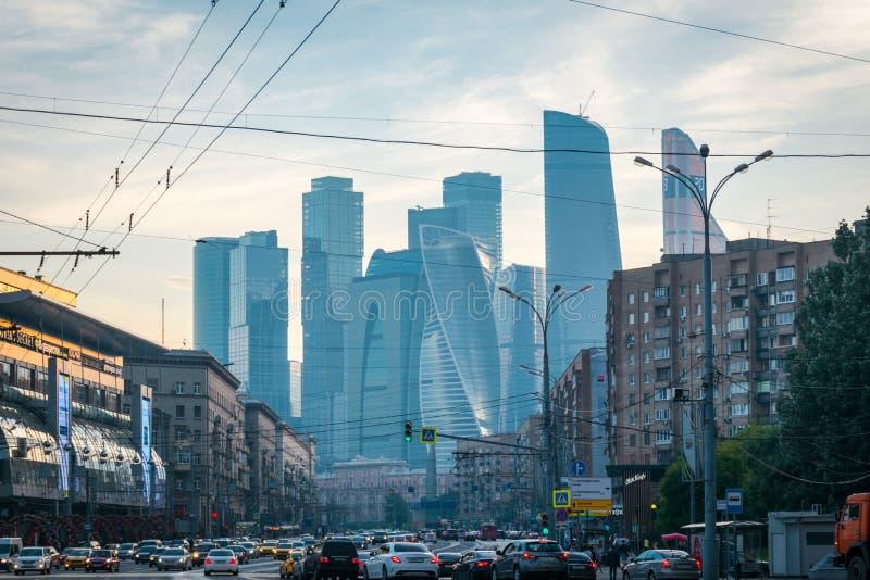Moskwa Mi?dzynarodowy centrum biznesu w Moskwa, Rosja zdjęcie stock