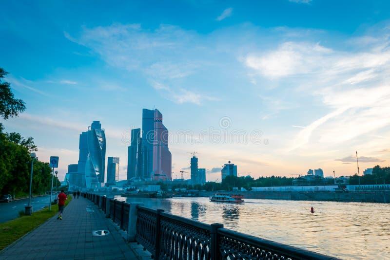 Moskwa Mi?dzynarodowy centrum biznesu w Moskwa, Rosja obrazy stock