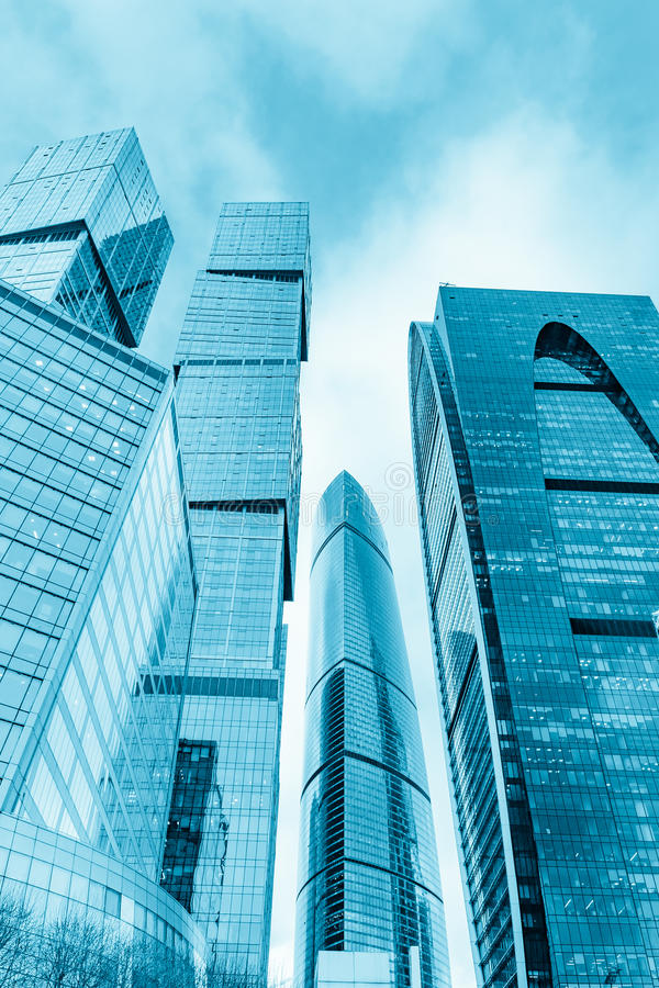 Moskwa miasta Międzynarodowy centrum biznesu w Rosja fotografia royalty free