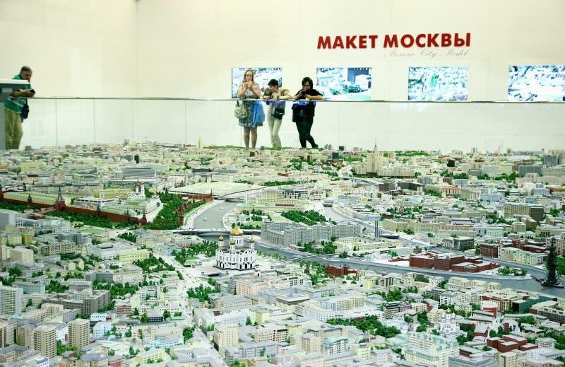 Moskwa model z wszystkie ulicami obraz royalty free