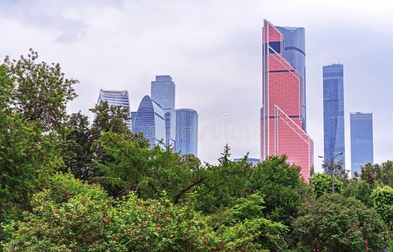 MOSKWA ROSJA, CZERWIEC, - 15, 2019: Mercury miasta wierza w Moskwa Międzynarodowym centrum biznesu, Moskwa, Rosja obraz royalty free