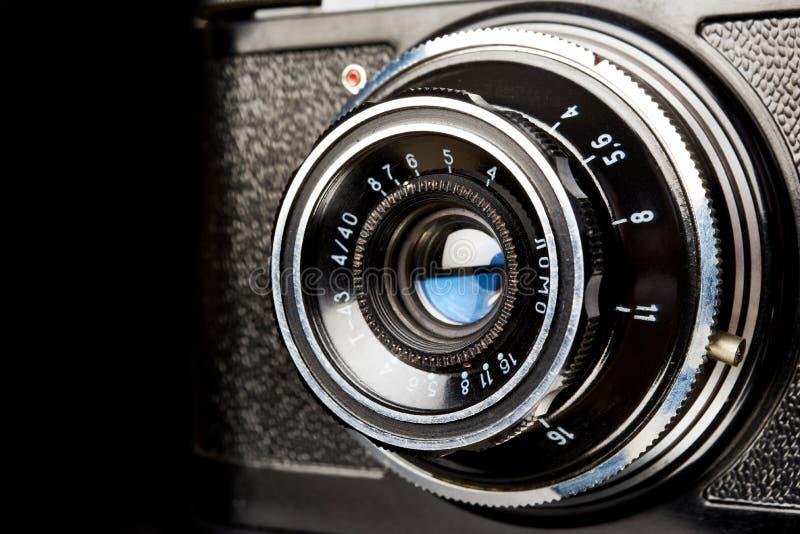 Moskwa, ROSJA - 13 KWIETNIA 2020: Smena-8 - rosyjska kamera dalmierza radzieckiego, LOMO 1963 na czarno obrazy stock