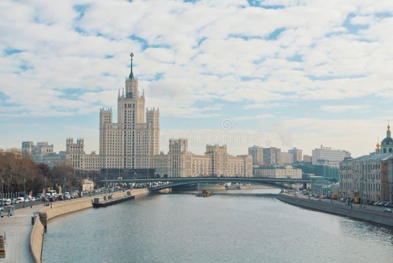 MOSKWA ROSJA, LISTOPAD, - 3, 2017: Panoramiczny widok Moskwa, Kot zdjęcie stock