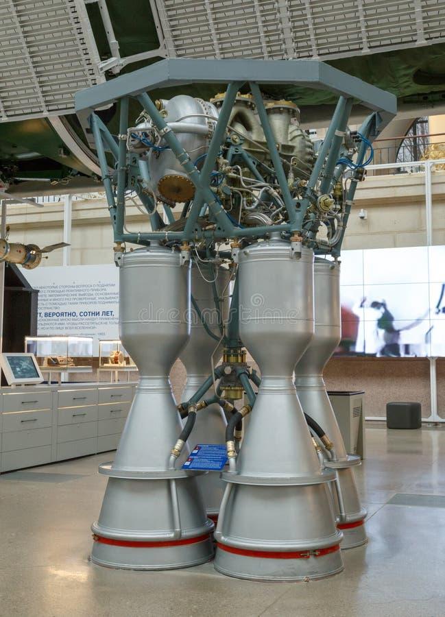 Moskwa Rosja, Listopad, - 28, 2018: Wewnętrzna wystawa w Astronautycznym pawilonie przy VDNH Nowożytny muzeum rosyjski kosmos fotografia royalty free
