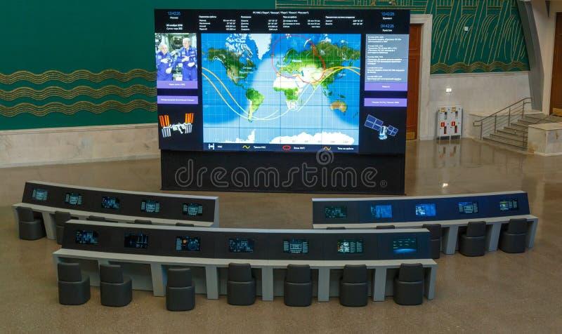 Moskwa Rosja, Listopad, - 28, 2018: Wewnętrzna wystawa w Astronautycznym pawilonie przy VDNH Nowożytny muzeum rosyjski kosmos fotografia stock