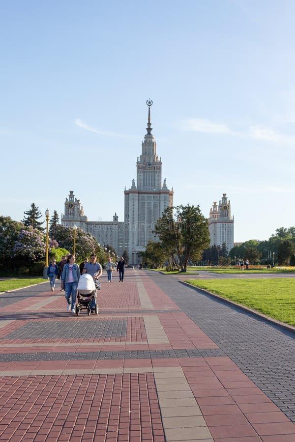 Moskwa, Rosja: Rosja, Moskwa, Lomonosov Moskwa stanu uniwersytet fotografia royalty free
