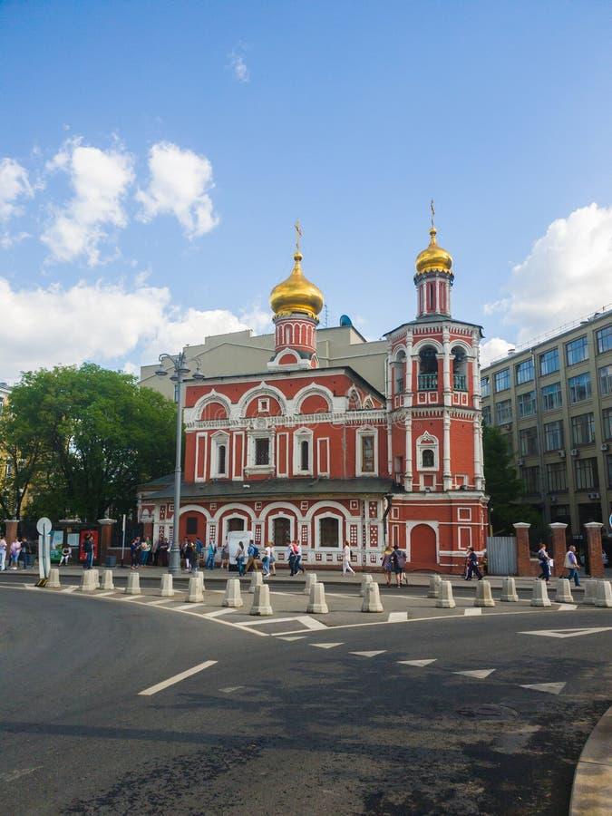 Moskwa Rosja, Maj, - 12, 2018 Kościół Wszystkie święty na Kulishki obrazy stock