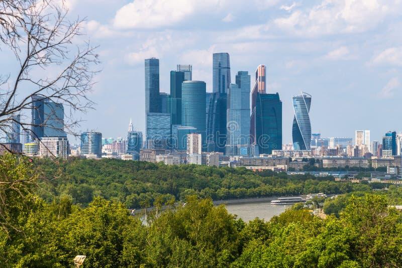 Moskwa Rosja, Maj, - 28 2019 Międzynarodowy centrum biznesu miasto - tylko powikłany drapacz chmur w mieście obrazy stock