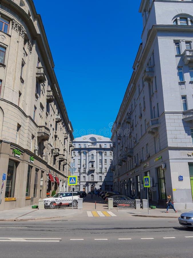 MOSKWA ROSJA, Maj, - 12, 2019: Moskwa społeczeństwa handlowy budynek zdjęcie royalty free