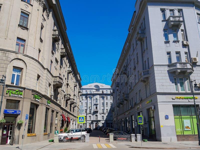 MOSKWA ROSJA, Maj, - 12, 2019: Moskwa społeczeństwa handlowy budynek obrazy royalty free