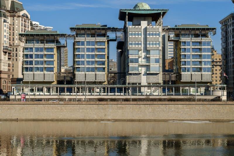MOSKWA, ROSJA, nowożytny budynek ambasada Anglia zdjęcie royalty free