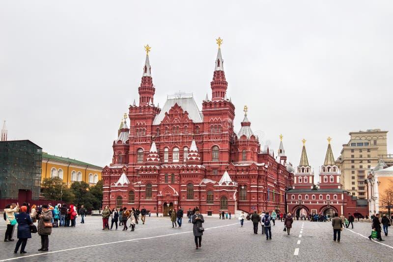 MOSKWA ROSJA, PAŹDZIERNIK, - 06, 2016: Stanu Dziejowy muzeum Rosja na placu czerwonym w Moskwa obraz stock