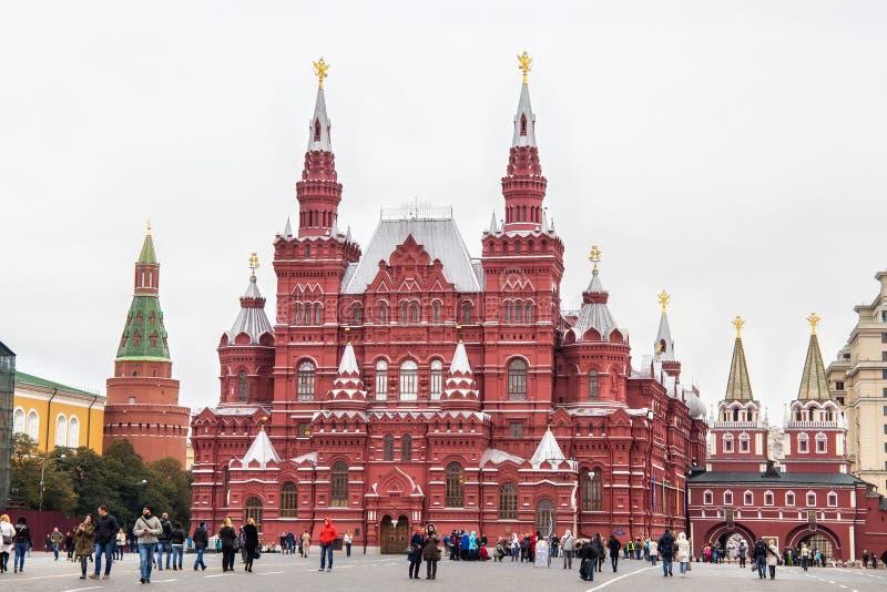 MOSKWA ROSJA, PAŹDZIERNIK, - 06, 2016: Stanu Dziejowy muzeum Rosja na placu czerwonym w Moskwa fotografia stock
