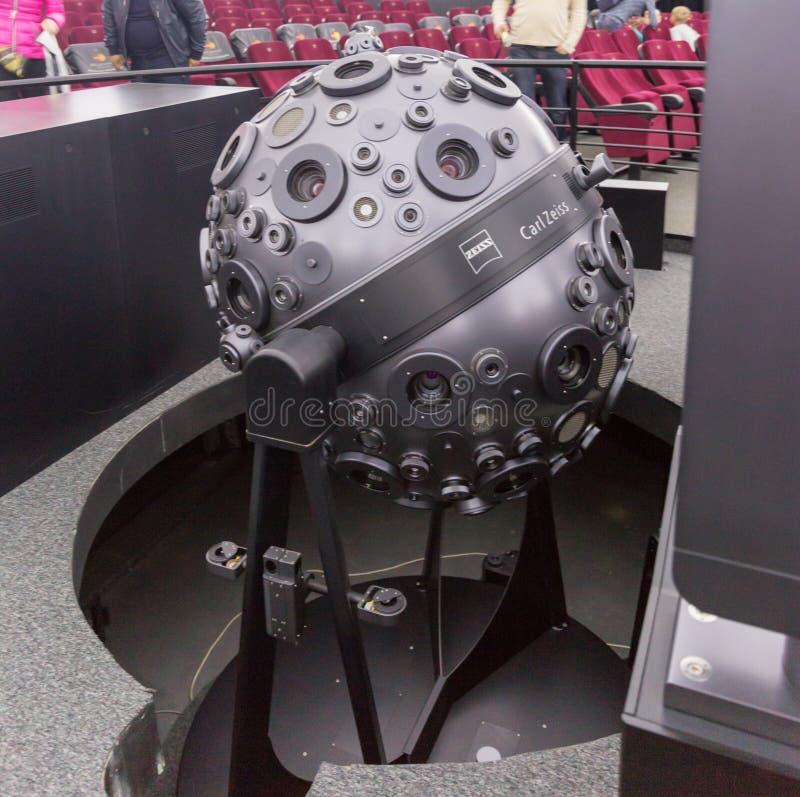 MOSKWA ROSJA, WRZESIE?, - 28: Optomechanical Cosmorama projektor planetarium w Moskwa Planetarium tera?niejszo?? zdjęcia royalty free
