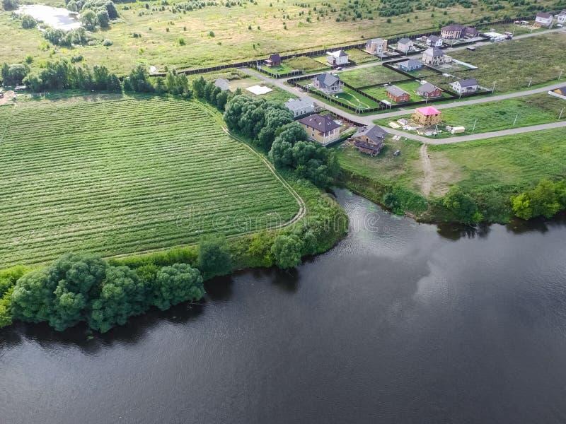 Moskwa rzeka, przegląda z góry zdjęcie stock