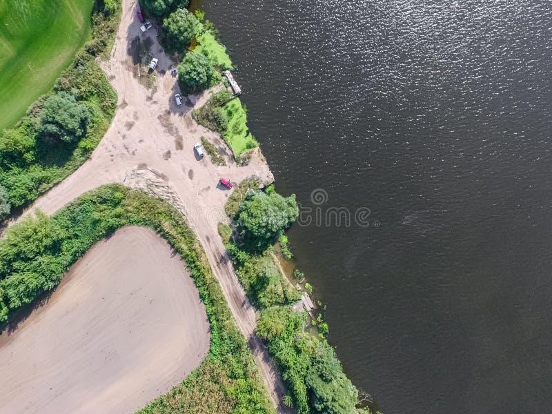 Moskwa rzeka, przegląda z góry zdjęcia stock