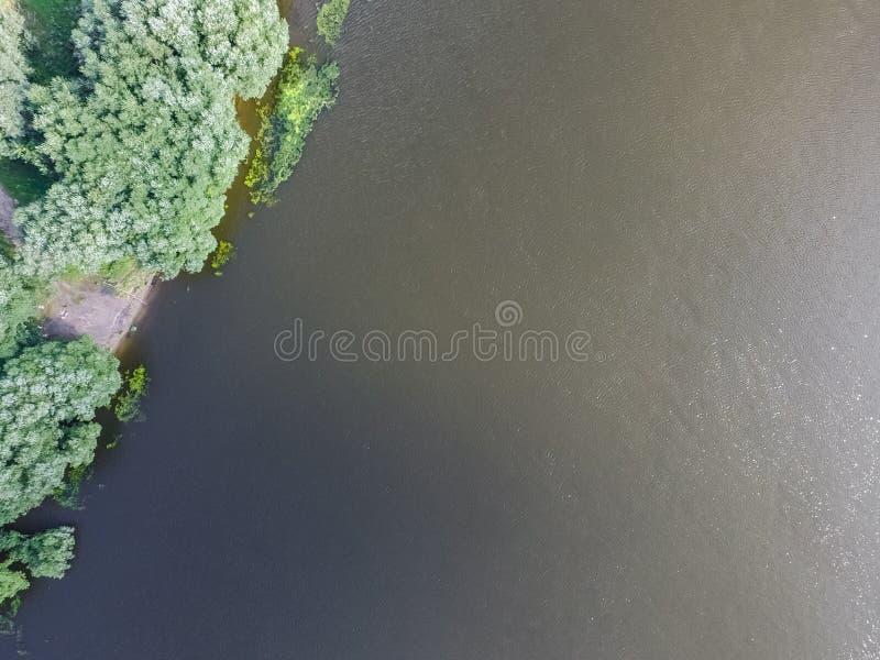 Moskwa rzeka, przegląda z góry obraz stock