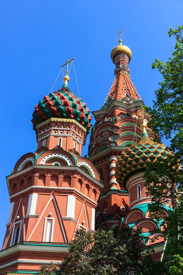 Moskwa St. basile Katedralni zdjęcie royalty free
