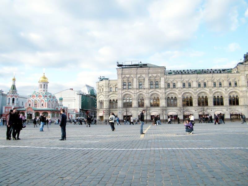 Moskwa turyści na placu czerwonym 2011 obrazy royalty free