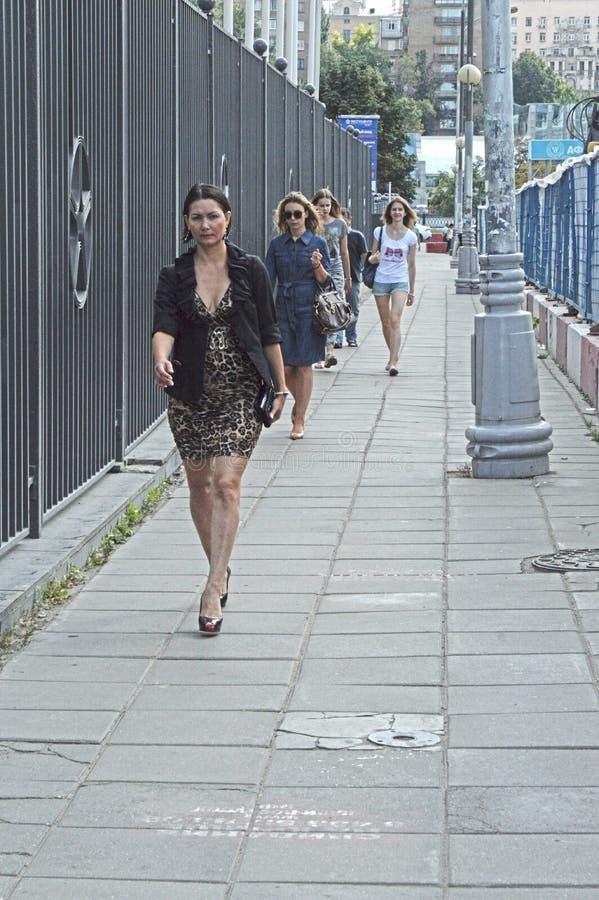 Moskwa ulica blisko Moskwa miasta Sierpniowego upału zdjęcie royalty free
