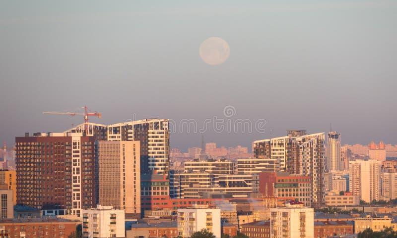 Moskwa widok z księżyc, Rosja obrazy stock