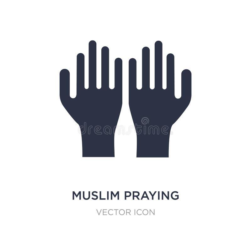 moslemische betende Handikone auf weißem Hintergrund Einfache Elementillustration vom Religionskonzept lizenzfreie abbildung
