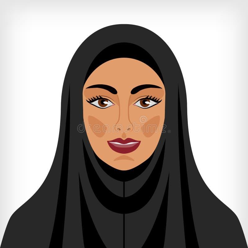 Moslemische Frau im Chador lizenzfreie abbildung
