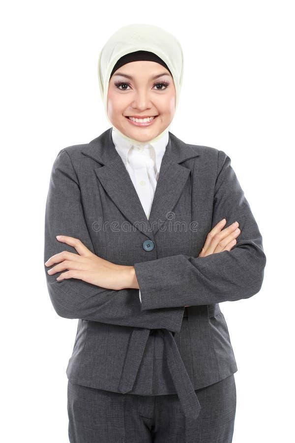 Moslemische Geschäftsfrau lizenzfreie stockfotos