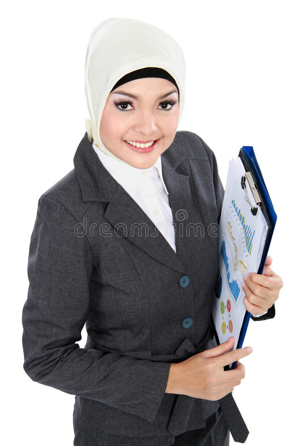 Moslemische Geschäftsfrau stockbild