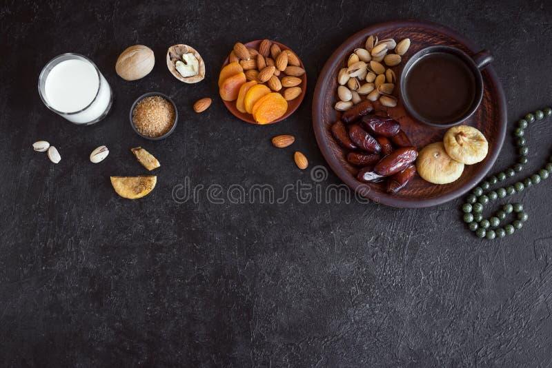 Moslemische Iftar-Nahrung stockfotos
