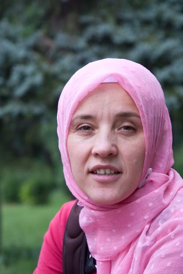Moslemische Islamfrau stockbilder