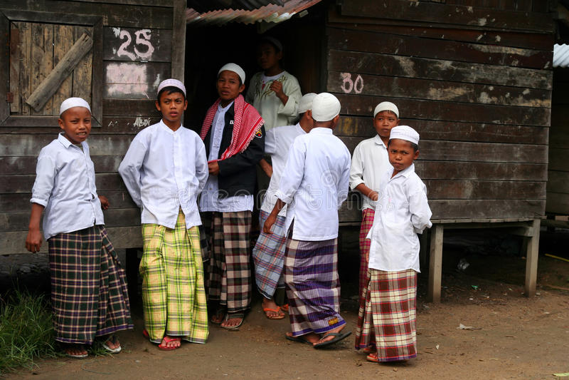 Moslemische Jungen lizenzfreie stockfotografie