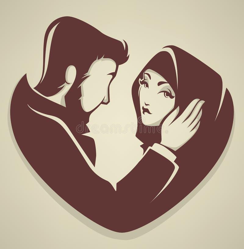 Moslemische Liebe stock abbildung