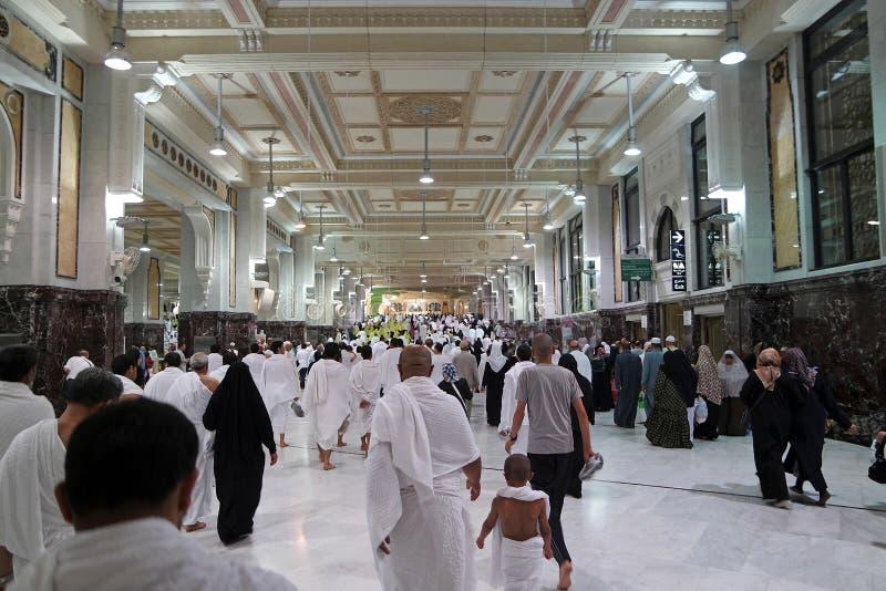 Moslemische Pilger führen saei durch lizenzfreie stockfotografie